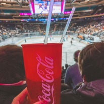 Match de hockey sur glace au madison square garden